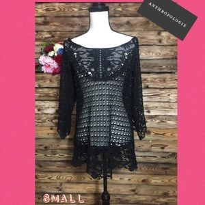 Anthropologie Umgee Black Loose Knit Sweater🔥S